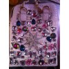 供应最新女式包流行双孔水晶钻系列