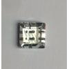 供应12*12正方双孔水晶钮扣