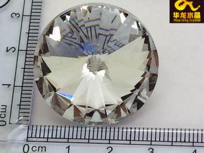 30MM水晶拉扣软包扣水晶玻璃扣