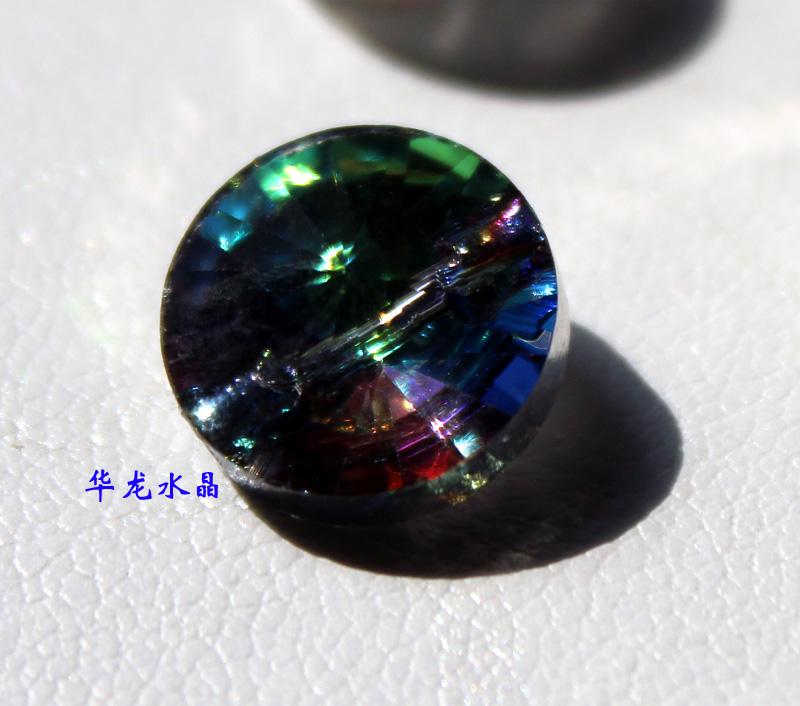 12MM五彩水晶钮扣2万现货便宜卖了