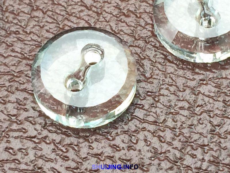 华龙水晶开发高档水晶玻璃钮扣