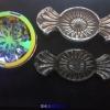 水晶玻璃吹火抛光门花钻中空移门糖果形状透明异形门花钻贴