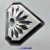 水晶玻璃平底门花钻中空移门钻石形透明七彩异形贴片吹火透亮