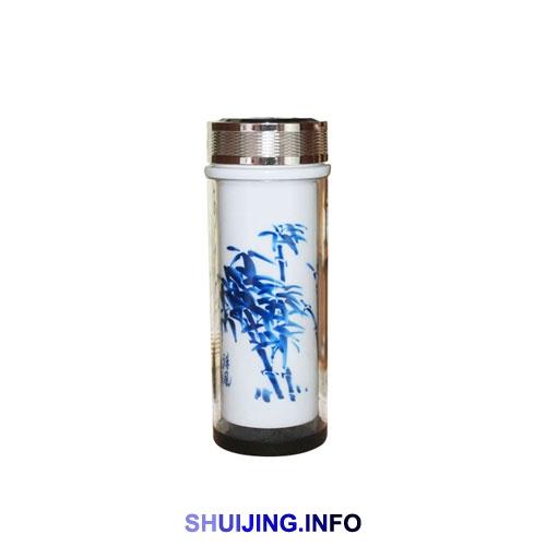 景德镇大号带盖水晶玻璃陶瓷杯