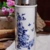 蓝水晶杯(花开富贵)