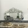 定制新款欧式复古刻花壁挂镜 雕花异型化妆镜 家具ktv酒店装饰镜