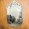 新款欧式复古浴室壁挂镜美容镜雕花化妆镜 卫生间镜子酒店装饰镜