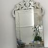 欧式浴室镜装饰卫生间洗手间卫浴镜酒店别墅家具复古梳妆镜