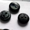 11.3MM18L黑色圆形水晶玻璃直孔纽扣辅料钮扣钻扣饰品配件