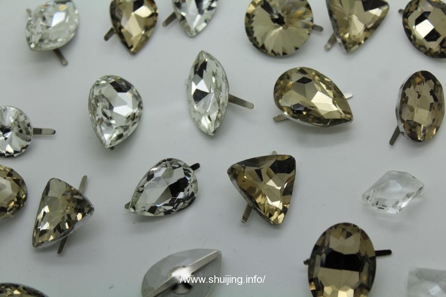 【水晶产品】水晶玻璃叉角钻,水晶配件