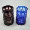 玻璃高档笔筒雕花TZ-019