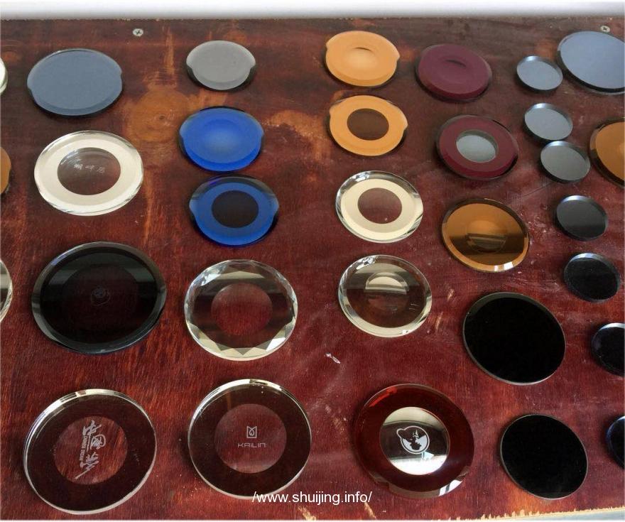 【水晶玻璃产品】杯盖片,圆台,化妆镜,灯罩片,贴片2 (1播放)
